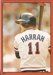 1982 Topps Baseball Stickers     177     Toby Harrah