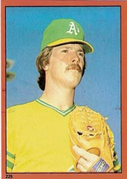 1982 Topps Baseball Stickers     225     Matt Keough