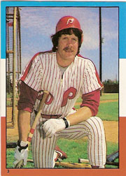 1982 Topps Baseball Stickers     003      Mike Schmidt LL