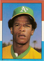 1982 Topps Baseball Stickers     008      Rickey Henderson LL