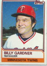 1983 Topps      011      Billy Gardner MG