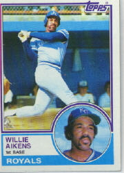 1983 Topps      136     Willie Aikens