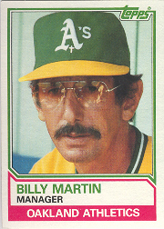1983 Topps      156     Billy Martin MG