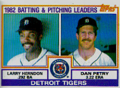 1983 Topps      261     Tigers TL#{BA: Larry Herndon#{ERA: Dan Petry#{(Che