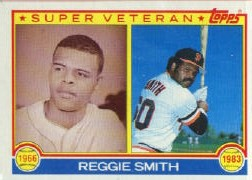 1983 Topps      283     Reggie Smith SV