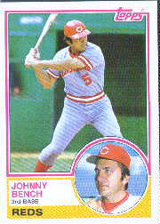 1983 Topps      060      Johnny Bench