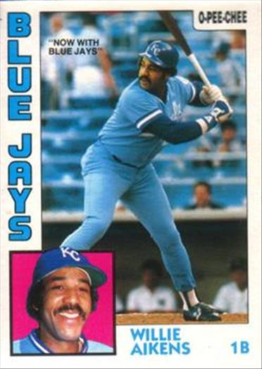 1984 O-Pee-Chee Baseball Cards 137     Willie Aikens#{Now with Blue Jays