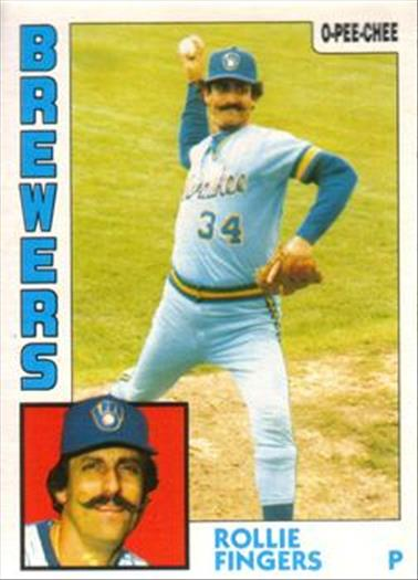 1984 O-Pee-Chee Baseball Cards 283     Rollie Fingers