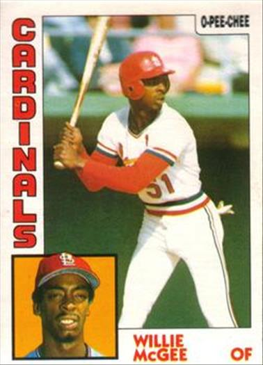 1984 O-Pee-Chee Baseball Cards 310     Willie McGee