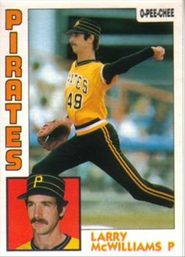 1984 O-Pee-Chee Baseball Cards 341     Larry McWilliams