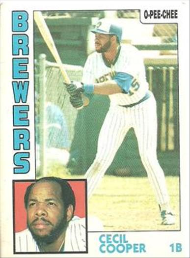 1984 O-Pee-Chee Baseball Cards 043      Cecil Cooper