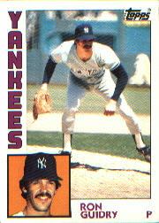 1984 Topps      110     Ron Guidry