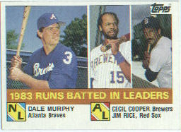 1984 Topps      133     Dale Murphy/Cecil Cooper/Jim Rice LL
