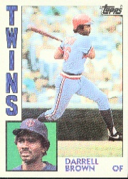 1984 Topps      193     Darrell Brown