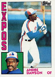 1984 Topps      200     Andre Dawson