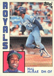 1984 Topps      340     Hal McRae