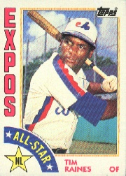 1984 Topps      390     Tim Raines AS