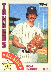 1984 Topps      406     Ron Guidry AS