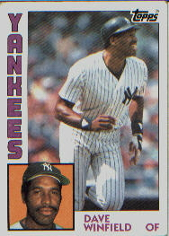 1984 Topps      460     Dave Winfield