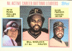 1984 Topps      701     Bill Madlock/Pete Rose/Dave Parker LL