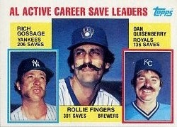 1984 Topps      718     Rollie Fingers/Goose Gossage/Dan Quisenberry LL
