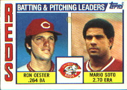 1984 Topps      756     Reds TL#{Ron Oester#{Mario Soto#{(Checklist on bac