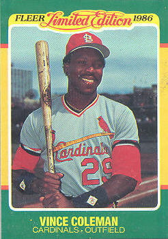 1986 Fleer Limited Edition Baseball Cards