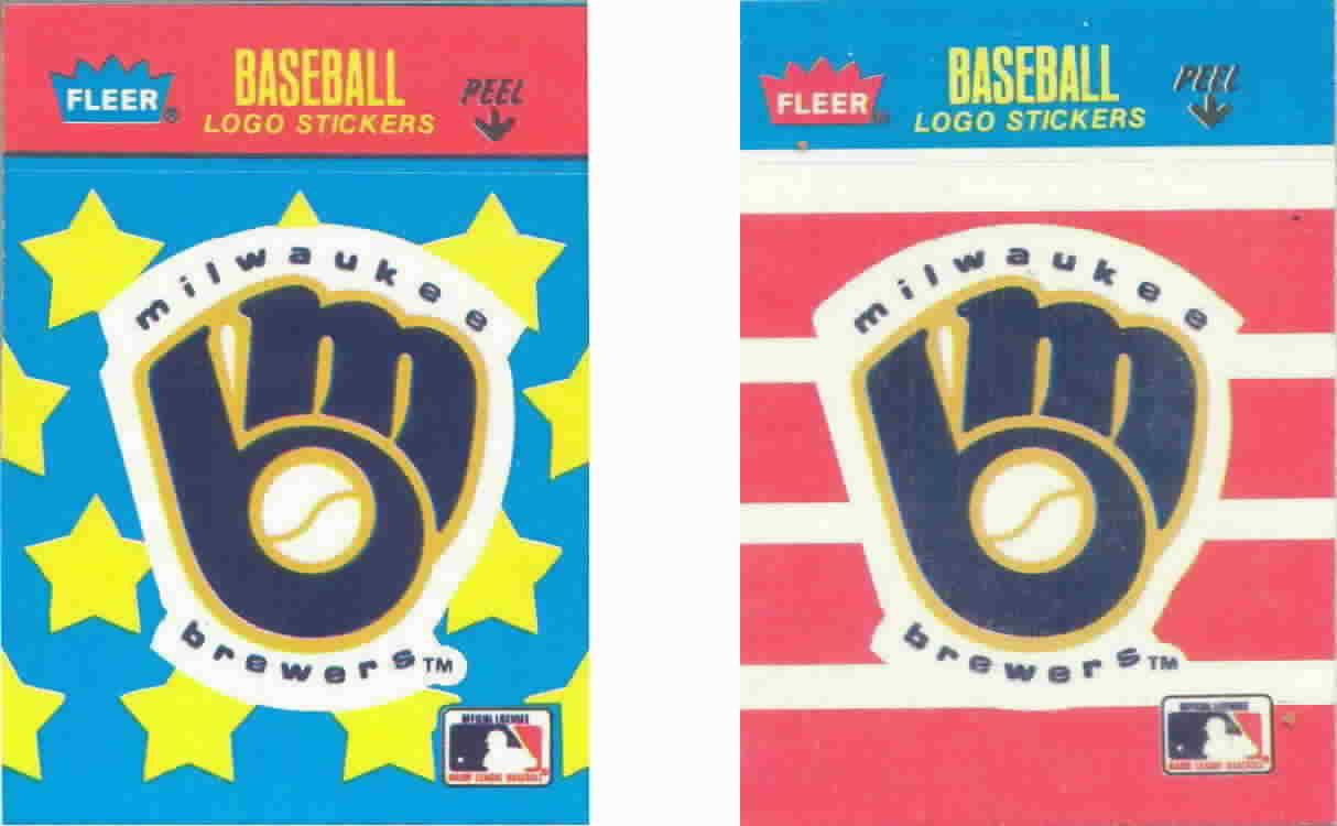 1986 Fleer Mini Logo Stickers
