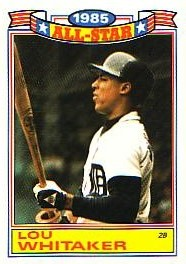 1986 Topps Glossy All-Stars Gray Stock Baseball Cards     003      Lou Whitaker
