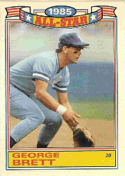 1986 Topps Glossy All-Stars Gray Stock Baseball Cards     004      George Brett