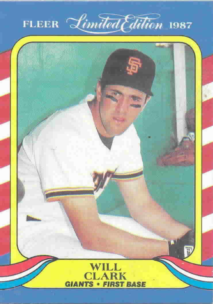 1987 Fleer Limited Edition Baseball Cards