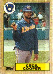 1987 Topps Baseball Cards      010      Cecil Cooper