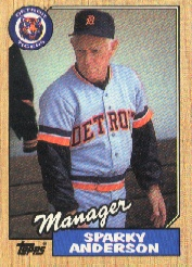 1987 Topps Baseball Cards      218     Sparky Anderson MG