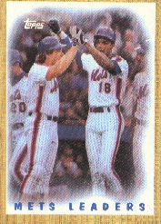 1987 Topps Baseball Cards      331     Mets TL/Carter/Straw