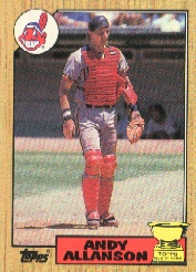 1987 Topps Baseball Cards      436     Andy Allanson RC