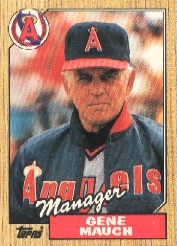 1987 Topps Baseball Cards      518     Gene Mauch MG