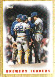 1987 Topps Baseball Cards      056      Brewers Team#{(Mound conference)