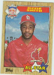 1987 Topps Baseball Cards      598     Ozzie Smith AS