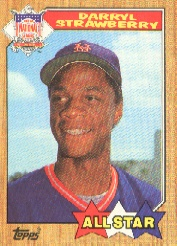 1987 Topps Baseball Cards      601     Darryl Strawberry AS
