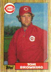 1987 Topps Baseball Cards      065      Tom Browning