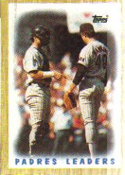 1987 Topps Baseball Cards      081      Padres Team#{(Andy Hawkins and#{Terry Kennedy)