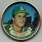 1987 Topps Baseball Coins        006      Jose Canseco