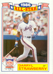 1987 Topps Glossy All-Stars Baseball Cards     008      Darryl Strawberry