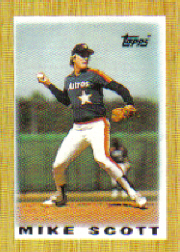 1987 Topps Mini Leaders Baseball Cards 011      Mike Scott