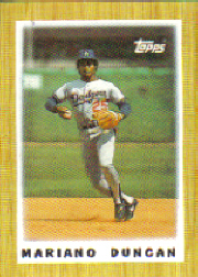 1987 Topps Mini Leaders Baseball Cards 013      Mariano Duncan