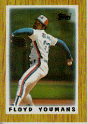 1987 Topps Mini Leaders Baseball Cards 019      Floyd Youmans