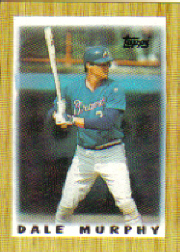 1987 Topps Mini Leaders Baseball Cards 002      Dale Murphy
