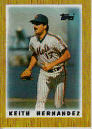 1987 Topps Mini Leaders Baseball Cards 024      Keith Hernandez