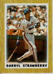 1987 Topps Mini Leaders Baseball Cards 026      Darryl Strawberry