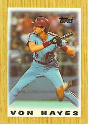 1987 Topps Mini Leaders Baseball Cards 028      Von Hayes DP